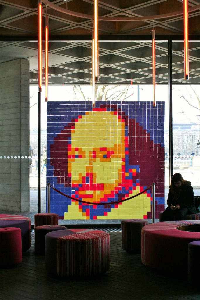 Shakespeare artwork at National Theatre