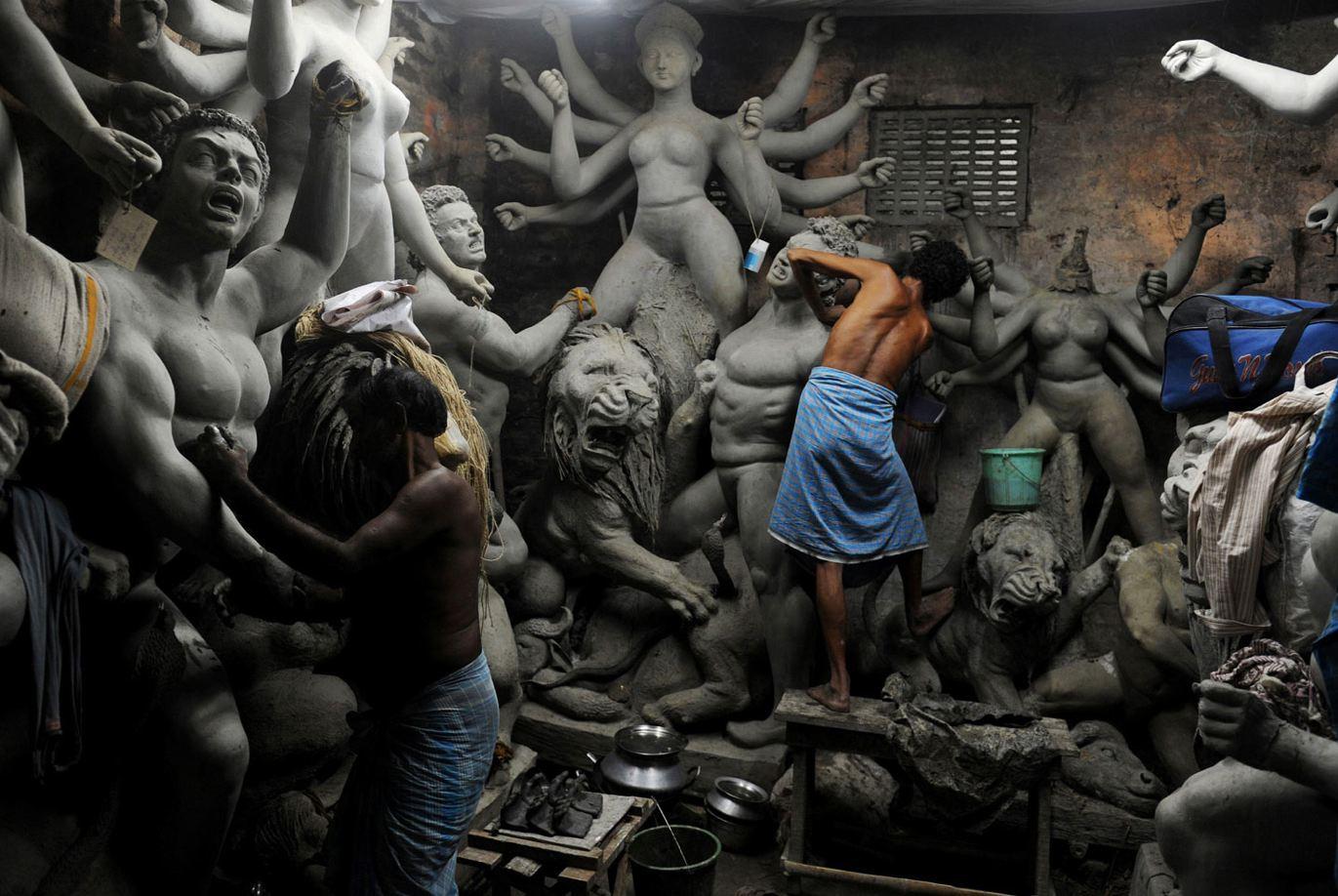 durga_idols Kumartuli the travelphotographer