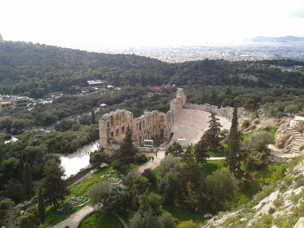 Greece View of the Theatre of Herodes Atticus fron the Acropolis Photo Courtesy Nikoleta Platia