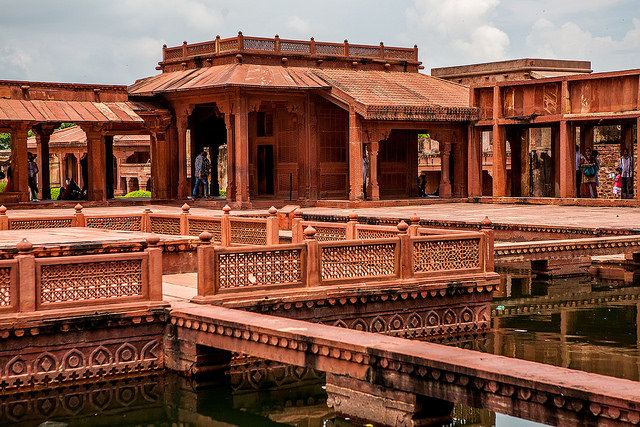 Fatehpur Sikri, ( UNESCO World Heritage site ) the city was founded in 1569 by the Mughal emperor Akbar, and served as the capital of the Mughal Empire from 1571 to 1585.Picture Courtesy: Sandeepa Chetan