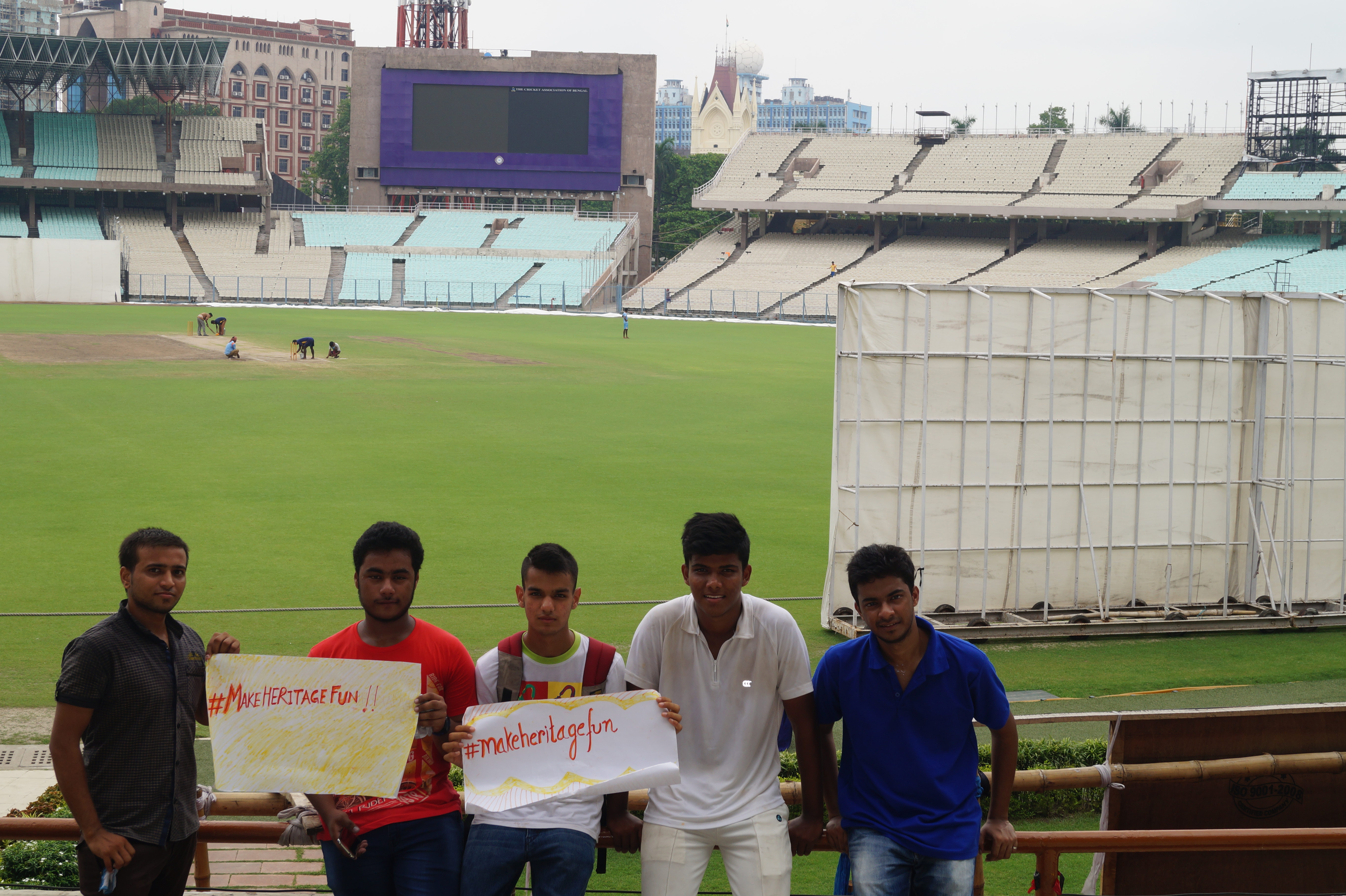 At Eden Gardens. Photo by Kasturi Basu