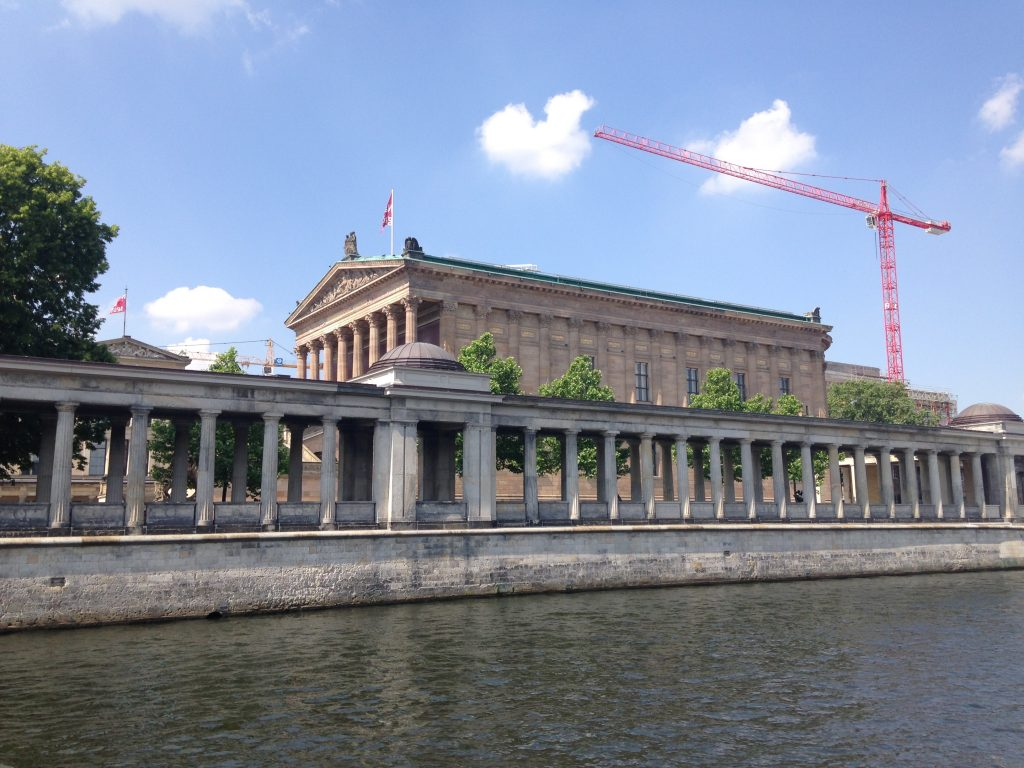 The Alte Nationalgalerie seen from the river Spree