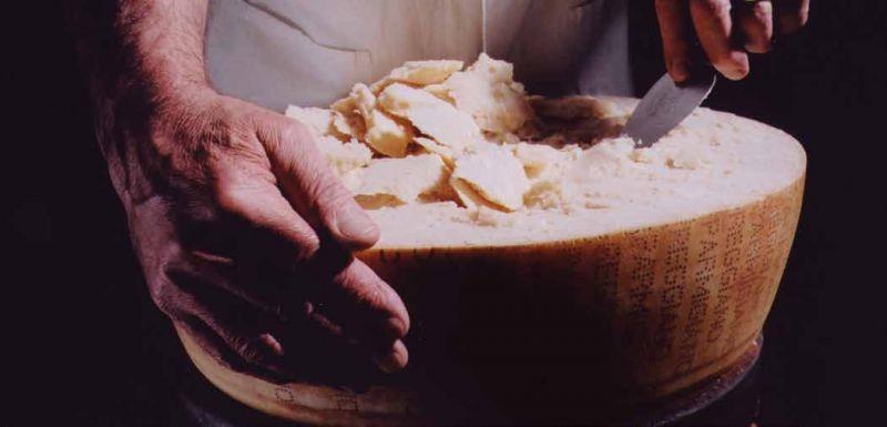 Parmigiano-Reggiano Cheese. Courtesy of Parma nel Cuore dei Sapori