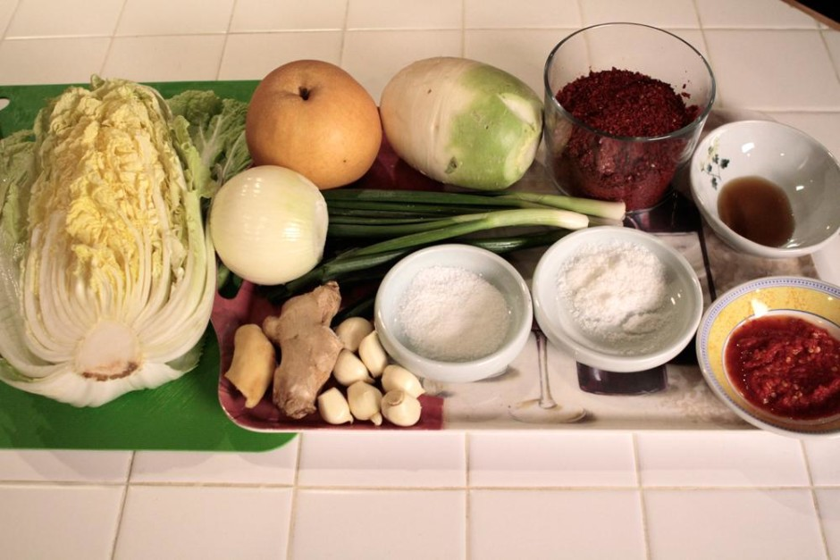 The common ingredients used in the Kimchi making process. Photo credit: opb.org