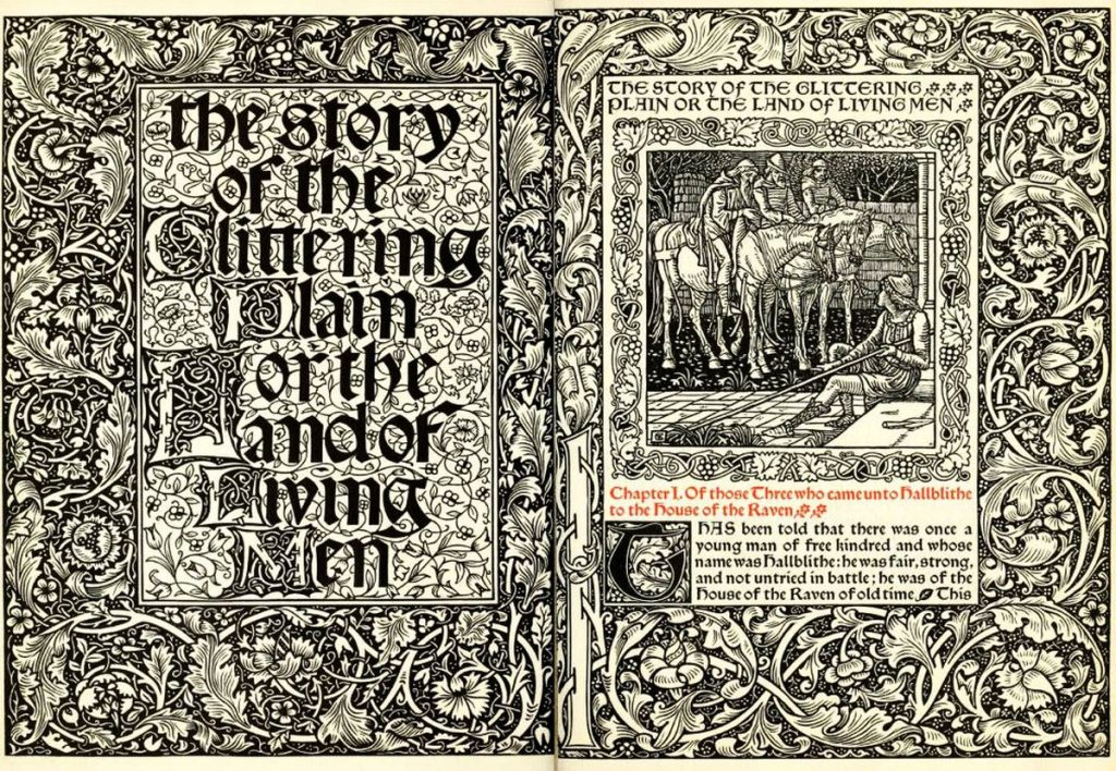 A view of the Kelmscott Chaucer. Photo credit: victorianweb.org