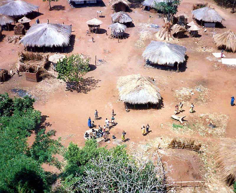 A bird's eye view of a typical Malawi village. Photo credit: Trekearth.com