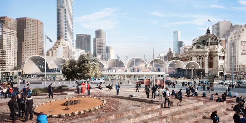 The Flinders Street Station winning proposal. Photo credit: archdaily.com